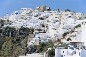 greece hill town on sunny day77745531